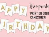 Free Happy Birthday Banner to Print Happy Birthday Banner Printable Template Paper Trail Design