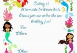 Free Mermaid Birthday Invitations Free Printable Mermaid Birthday Invitation