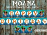 Free Moana Happy Birthday Banner Moana Banner Moana Happy Birthday Banner Moana Printable