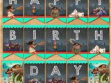 Free Moana Happy Birthday Banner Moana Happy Birthday Banner Chalkboard Moana Birthday