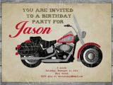 Free Motorcycle Birthday Cards Motorcycle Birthday Invitation Card Vintage Boy