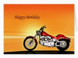 Free Motorcycle Birthday Cards Motorcycle Sunset Birthday Card Zazzle