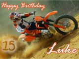 Free Motorcycle Birthday Cards Personalised Motocross Motorbike Birthday Card Ebay