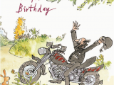 Free Motorcycle Birthday Cards Quentin Blake Motorbiker Happy Birthday Greeting Card