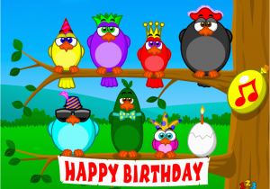 Free Musical Birthday Cards By Email Singing Birds Send Ecards From 123cards Com