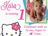 Free Online 1st Birthday Invitation Card Maker Personalized Hello Kitty Birthday Invitations Updated
