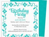 Free Online 40th Birthday Invitation Templates Border 40th Birthday Party Invitation Templates Shown Here