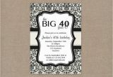 Free Online 40th Birthday Invitation Templates Free Printable 40th Birthday Party Invitation Templates