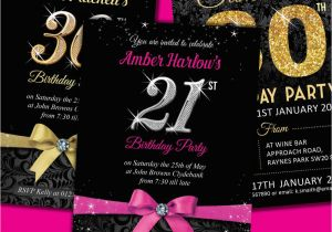 Free Online 40th Birthday Invitation Templates Personalised Birthday Invitations Party Invites 18th