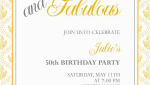 Free Online 50th Birthday Invitation Templates 50th Birthday Invitation Templates Free Printable A