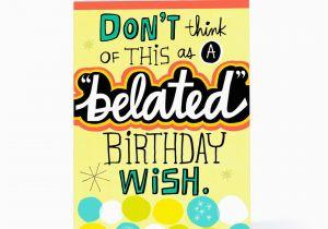 Free Online Belated Birthday Cards Ecards Hallmark