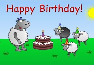 Free Online Birthday Cards Funny Animated Happy Birthday Funny Animated Sheep Cartoon Happy