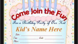 Free Online Kids Birthday Invitations 50 Printable Birthday Invitation Templates Sample Templates