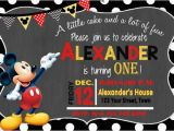 Free Online Mickey Mouse Birthday Invitations 30 Mickey Mouse Invitation Template Free Premium
