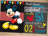 Free Online Mickey Mouse Birthday Invitations 31 Mickey Mouse Invitation Templates Free Sample