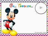 Free Online Mickey Mouse Birthday Invitations Free Mickey Mouse Birthday Invitations Template Chevron
