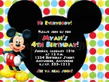 Free Online Mickey Mouse Birthday Invitations Free Mickey Mouse First Birthday Invitations Template