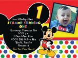Free Online Mickey Mouse Birthday Invitations Free Printable 1st Mickey Mouse Birthday Invitations