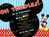Free Online Mickey Mouse Birthday Invitations Free Printable Mickey Mouse Invitatons Birthday Drevio