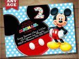 Free Online Mickey Mouse Birthday Invitations Mickey Birthday Invitation Free