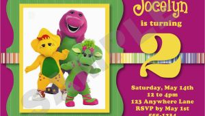 Free Personalized Barney Birthday Invitations Barney Birthday Invitations Best Party Ideas