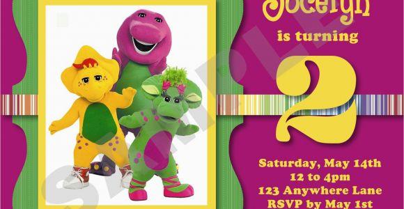 Free Personalized Barney Birthday Invitations Barney Birthday Invitations Best Party Ideas