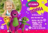 Free Personalized Barney Birthday Invitations Barney Birthday Invitations Ideas Bagvania Free