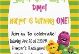 Free Personalized Barney Birthday Invitations Free Printable Barney Birthday Party Invitations Home