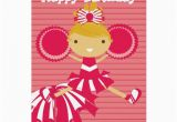 Free Personalized Birthday Cards with Photos Cheerleader In Red Personalized Birthday Cards Zazzle
