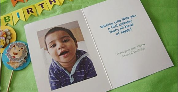 Free Personalized Birthday Cards with Photos First Birthday Card From Cardstore Com Review Food Corner