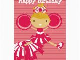Free Personalized Video Birthday Cards Cheerleader In Red Personalized Birthday Cards Zazzle
