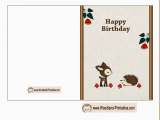 Free Print Birthday Cards Free Printable Woodland Birthday Cards