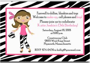 Free Printable 13th Birthday Party Invitations Ideas Templates Bagvania