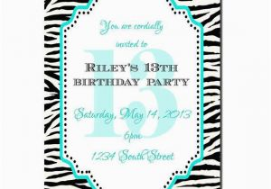 Free Printable 13th Birthday Party Invitations Invitation Girl