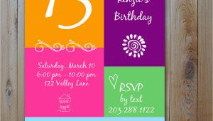 Free Printable 13th Birthday Party Invitations