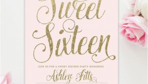 Free Printable 16th Birthday Invitations 25 Best Ideas About Sweet 16 Invitations On Pinterest