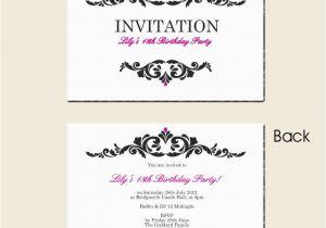 Free Printable 18th Birthday Invitations Surprise