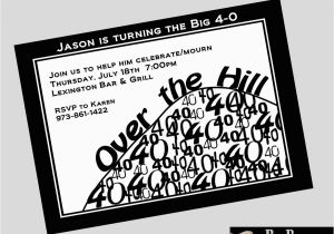 Free Printable 40th Birthday Invitations Over the Hill Birthday Invitations Best Party Ideas