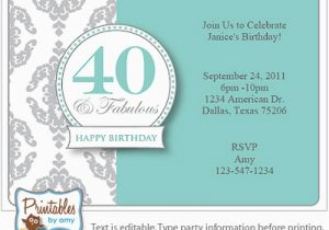 Free Printable 40th Birthday Invitations Surprise 40th Birthday Invitation Free Template