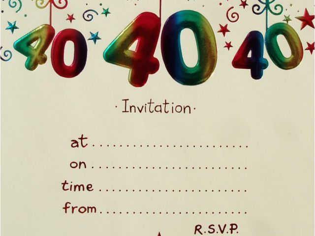 Download By SizeHandphone Tablet Desktop Original Size Back To Free Printable 40th Birthday Party Invitation Templates