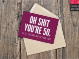 Free Printable 50th Birthday Cards Funny 50th Birthday Card Funny Birthday Instant Download