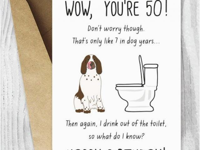 image regarding Dog Birthday Cards Printable Free known as Absolutely free Printable 50th Birthday Playing cards Humorous Goods Related in the direction of