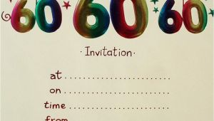 Free Printable 60th Birthday Cards 20 Ideas 60th Birthday Party Invitations Card Templates