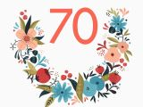 Free Printable 70th Birthday Cards Floral 70 Free Birthday Card Greetings island