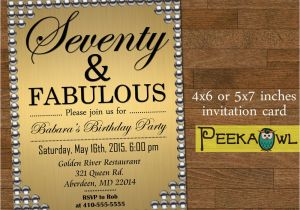 Free Printable 70th Birthday Cards Printable Gold Pearl 70th Birthday Invitation Card Seventy