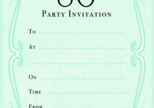 Free Printable 80th Birthday Invitations Templates 10 Sample Images Party
