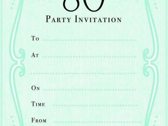 Download By SizeHandphone Tablet Desktop Original Size Back To Free Printable 80th Birthday Invitations Templates