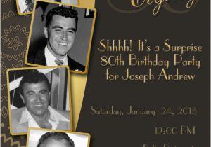 Free Printable 80th Birthday Invitations Templates 26 Invitation Sample