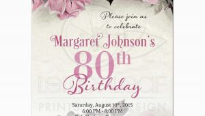 Free Printable 80th Birthday Invitations Templates 80th Birthday Party Invitations Party Invitations Templates