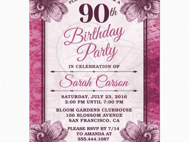 graphic relating to Free Printable 90th Birthday Invitations named Absolutely free Printable 90th Birthday Invites 90th Birthday Social gathering